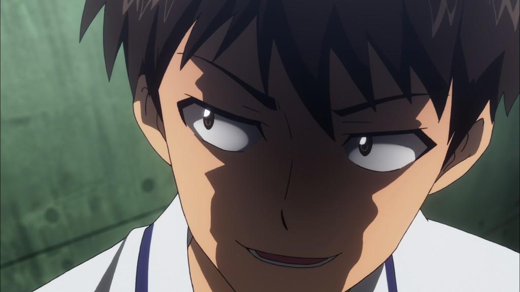 主人公である前田一也。第2話では室戸の不正登校を問い詰め、ワルい顔をする。
