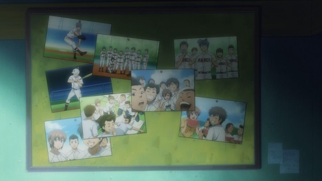 第1話にて、中学の仲間と共に再び野球をするため、沢村は勉強に精を出す