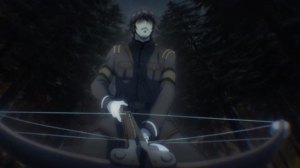 第11話より。浅香守生氏の絵コンテ担当話には時折目を隠す表現が用いられる。